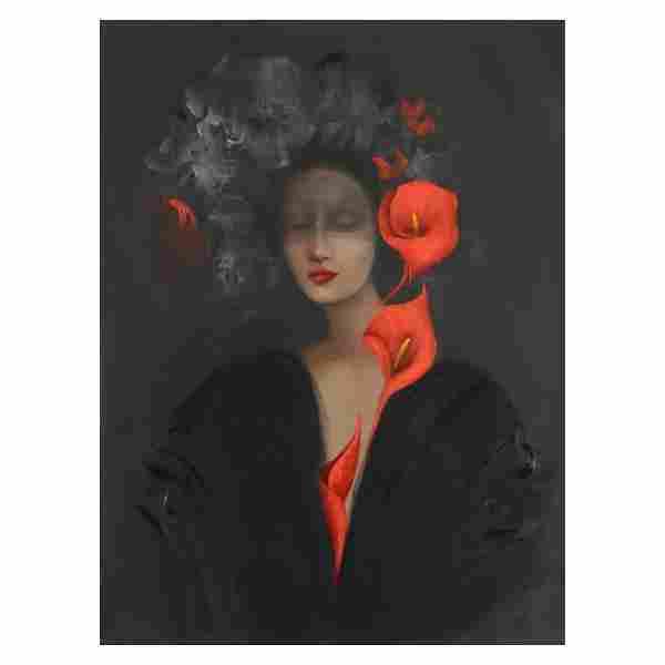 Victoria Montesinos, Original Oil Painting on Canvas