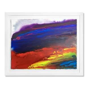 "Wyland, ""Reef Colors 17"" Framed Original Watercolor"
