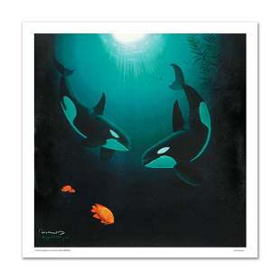 """""""In the Company of Orcas"""" Limited Edition Giclee on"""