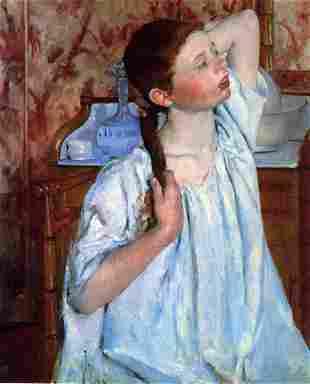 Mary Cassatt - Girl Arranging Her Hair 1886