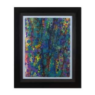 "Wyland, ""Pollack Coral Reef"" Framed Original Watercolor"