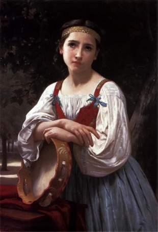 William Bouguereau - Gypsy Girl with Basque Drum