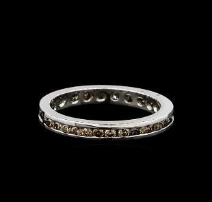 0.59 ctw Brown Diamond Ring - 14KT White Gold