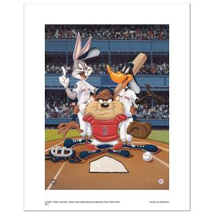 """""""At the Plate (Red Sox)"""" Numbered Limited Edition"""