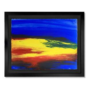 """Wyland, """"Untitled"""" Framed Original Watercolor Painting"""