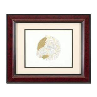 "Guillaume Azoulay, ""Remarque for Dragon Dore"" Framed"