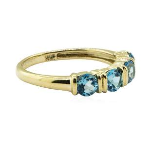 1.20 ctw Blue Topaz Ring - 14KT Yellow Gold