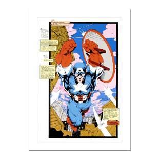 "Stan Lee Signed, ""Captain America, Sentinel: Uncanny"