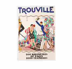 Vintage Trouville Limited Edition Lithograph