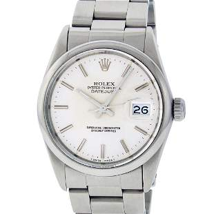 Rolex Mens Stainless Steel Slate Grey Index Datejust