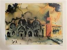 """Salvador Dali """"Homage to Venice"""""""
