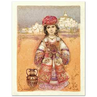 """""""Aegea"""" Limited Edition Lithograph by Edna Hibel"""