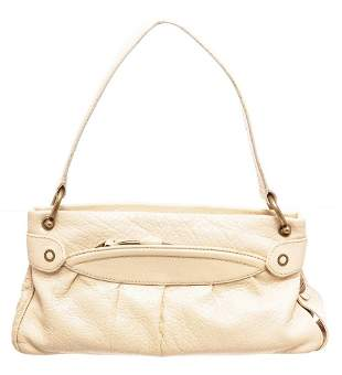 Marc Jacobs Cream Leather Shoulder Bag