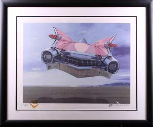 Harold James Cleworth Retrofuturism Pink Cadillac