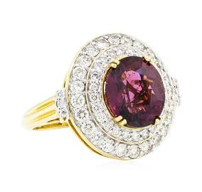 6.64 ctw Oval Mixed Lavender Spinel And Round Brilliant