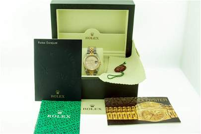 Rolex Datejust Mens 36 Rare Houndstooth Dial Box