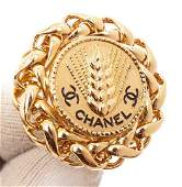Chanel Gold Large Braided Earrings