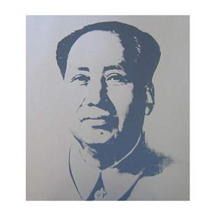 "Andy Warhol ""Mao Silver"" Silk Screen Print from Sunday"