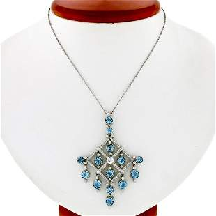 Tiffany & Co. Jazz Platinum 7.20 ctw Round Aquamarine