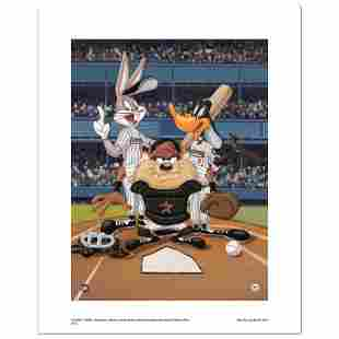"""""""At the Plate (Astros)"""" Numbered Limited Edition Giclee"""