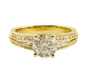 1.67 ctw Diamond Ring - 18KT Yellow Gold