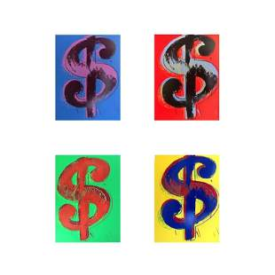 "Andy Warhol ""$ (Dollar signs)"" Limited Edition Suite of"