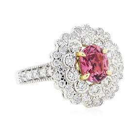 1.85 ctw Oval Mixed Pink Sapphire And Round Brilliant