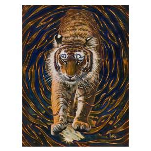 """Vera V. Goncharenko, """"Wild Tiger"""" Hand Signed Limited"""