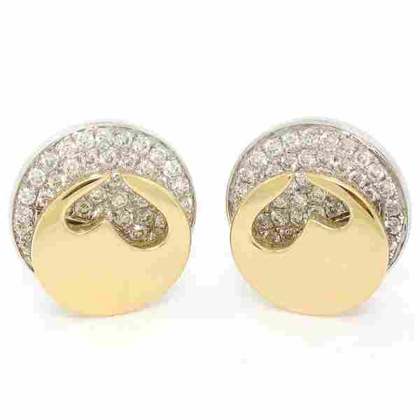 Movado 18K Two Tone Gold 1.80 ctw FINE Round Diamond &