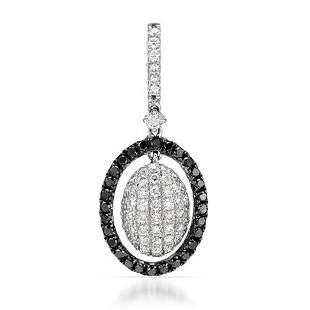 18k White Gold 0.51CTW Diamond and Black Diamonds