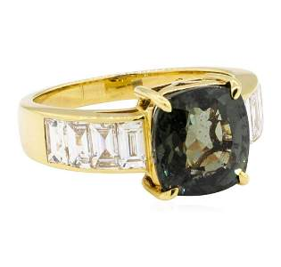 6.62 ctw Square Cushion Mixed Color Change Sapphire And