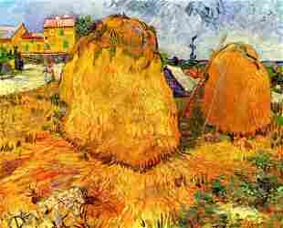 Van Gogh - Haystacks In Provence 2