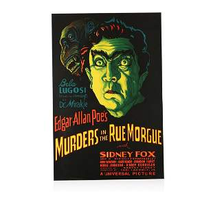 Murders in the Rue Morgue Recreation 1 Sheet Movie