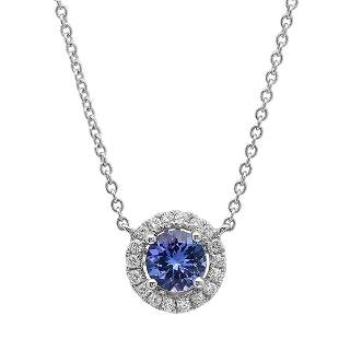 18k Gold 1.1CTW Tanzanite Necklace
