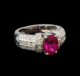 14KT White Gold GIA Certified 2.35 ctw Tourmaline and