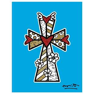 Blessings (Blue) by Britto, Romero