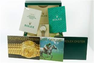 Rolex Datejust 26 Original Rare White Roman Diamond Box