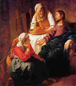 Johannes Vermeer - Christ in the house of Mary and