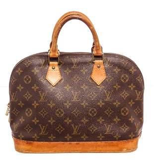 Louis Vuitton Brown Monogram Alma MM Satchel Bag