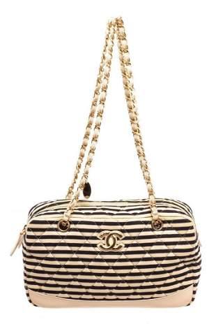 Chanel Cream Leather Marine Shoulder Bag