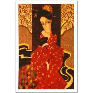 Geisha In Red by Smirnov, Sergey