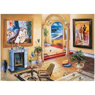 Interior with Chagall by Astahov, Alexander