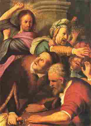 Rembrandt - Christ Drives Out Money Changers