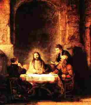 Rembrandt - Christ in Emmaus