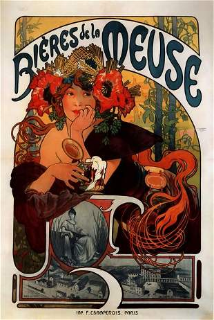 Alphonse Mucha - Bieres de la Meuse