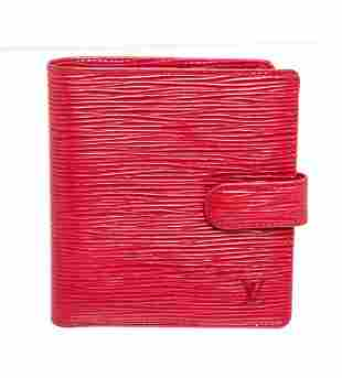 Louis Vuitton Red Epi Leather Compact Tab Wallet