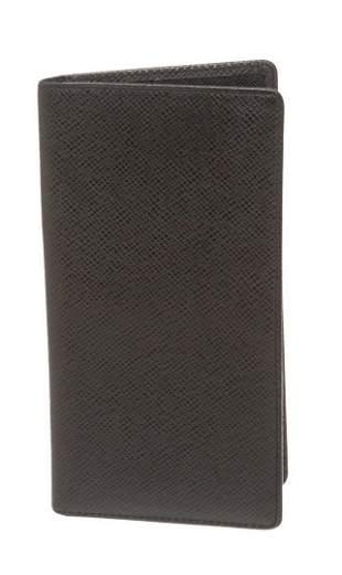 Louis Vuitton Black Ta�ga Leather Porte-Valeurs