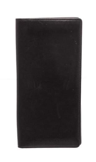 Louis Vuitton Black Lambskin Leather Long Bifold Wallet