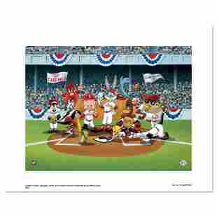 Line Up At The Plate (Cardinals) by Looney Tunes