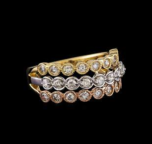 1.05 ctw Diamond Ring - 14KT Yellow, White, And Rose